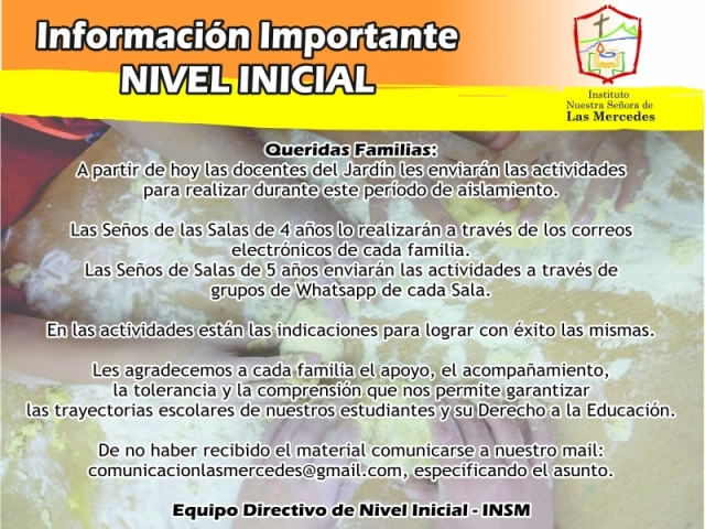 IMPORTANTE! NIVEL INICIAL
